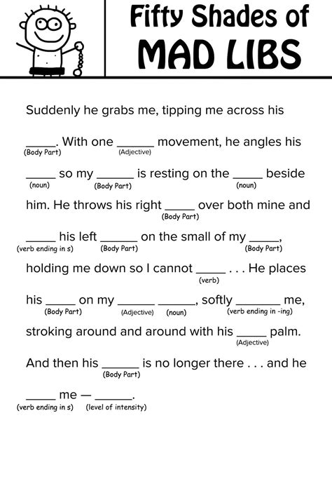'Fifty Shades of Grey' Mad Libs you can read with your mother