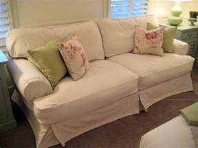 Denim Sofa Sectional by Shabby Chic Cottage Slipcovered Sofa Traditional Sofas