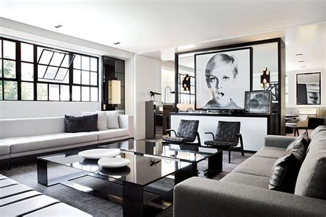 modern black  white penthouse