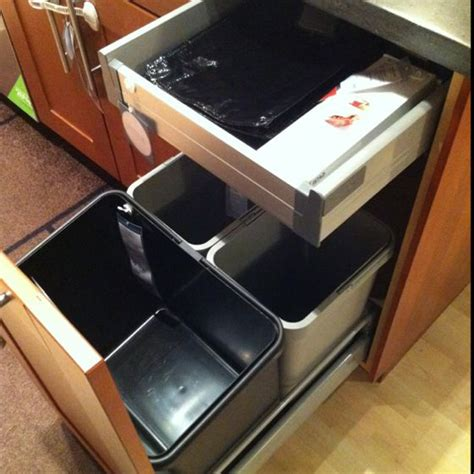 trash can cabinet solution at ikea kitchens pinterest