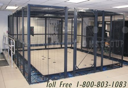 wire server cages partitions provide physical security