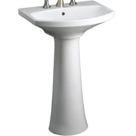 Kohler Cimarron Pedestal Sink by K2362 8 0 Cimarron Pedestal Bathroom Sink White At Shop