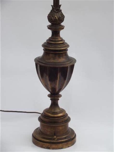 stiffel brass l antique brass torch table l vintage stiffel