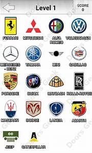 """Logo Quiz! - Cars Level 1 Answers by """"Candy Logo"""" ~ Doors Geek"""