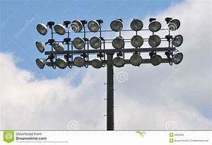 Stadium flood lights stock photo image