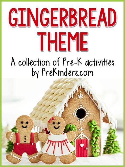 gingerbread theme prekinders 456 | gingerbread activities pre k