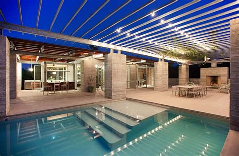 pool area lighting beyond the holidays radiant string light ideas that sparkle all year long