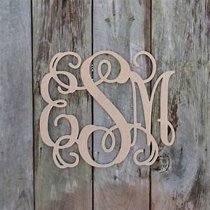 unfinished wooden 3 letter vine personalized custom With personalized wall letters