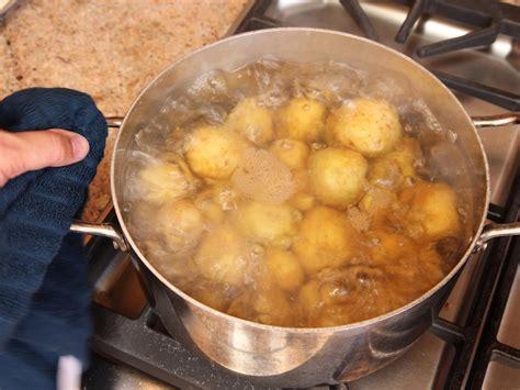 boiling potatoes boiled potatoes bbq sauce