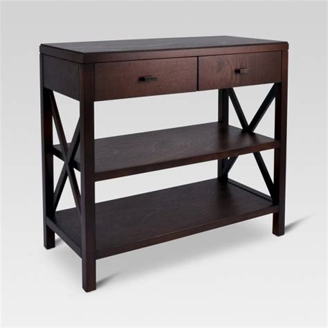 target sofa table espresso owings console table 2 shelf espresso threshold target