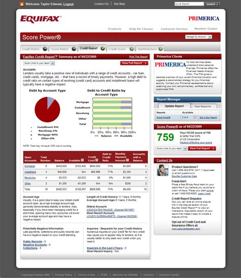 pin equifax credit report on