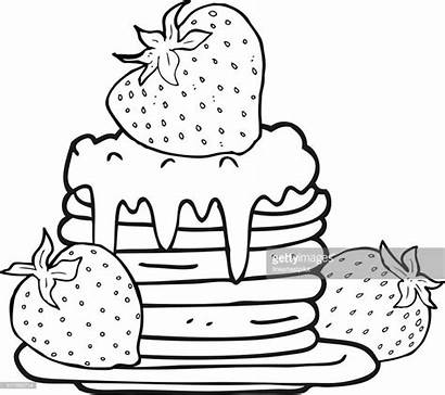 Pancake Pancakes Drawing Clip Cartoon Clipart Stack