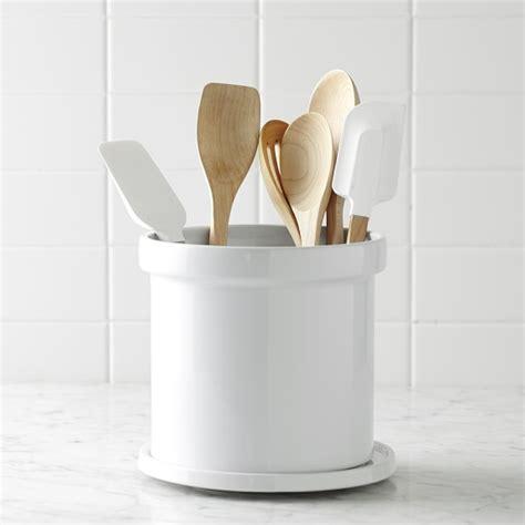 ceramic partitioned utensil holder williams sonoma