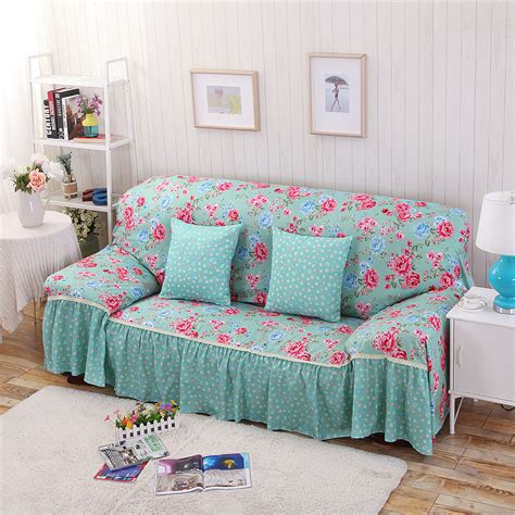 floral sofas for sale furniture cotton polyester modern plaid sofa towel flower