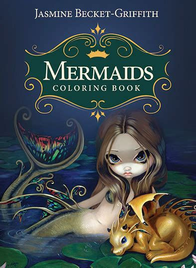 mermaids coloring book  aquatic art adventure coloring