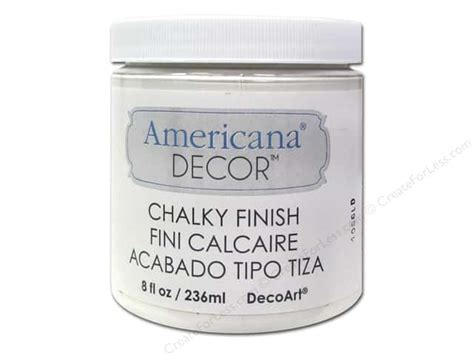 Americana Decor Chalky Finish Paint In Everlasting by Decoart Americana Decor Chalky Finish 8 Oz Everlasting