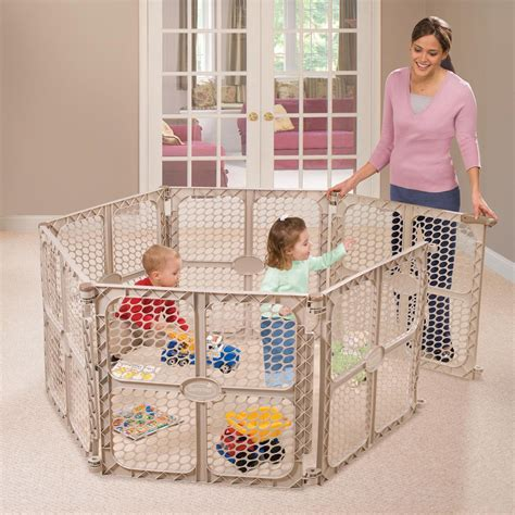 6 panel baby pen summer infant secure surround 6 panel playsafe playard indoor safety gates baby