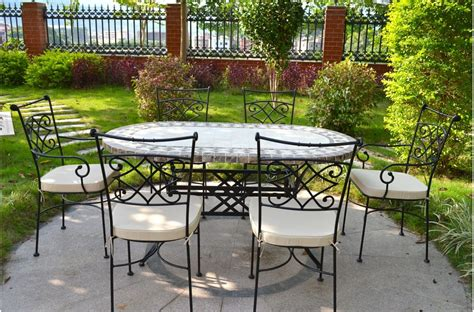 "71"" 94"" Oval Outdoor Stone Patio Dining Table Marble. Patio Paver Pals Patterns. Outside Table With Chairs. Will Metal Patio Furniture Rust. Jacksonville Patio And Garden. Patio Furniture Table With Fire Pit. Discount Patio Furniture Largo Fl. Eucalyptus Patio Furniture Sets. Simple Apartment Patio Ideas"