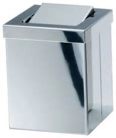 square small countertop wastebasket with swing lid chrome contemporary wastebaskets