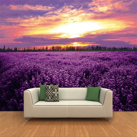 large scale wallpaper murals beibehang large scale custom wallpaper lavender flowers 3d wall murals sofa murals background