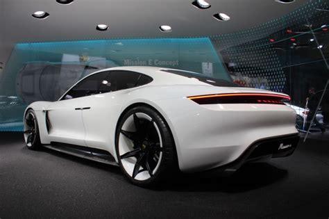 porsche mission e wheels porsche mission e electric car to cost less than panamera