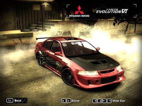 speed  wanted mitsubishi lancer gsr evolution