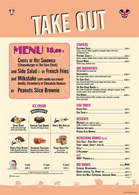 Coffee zone dünyada kahve yetişen birçok bölgeden kahve çekirdekleri ithal ediyor. Annette's Diner Take Out menu — DLP Guide • Disneyland Paris Restaurants, Dining, Places to Eat