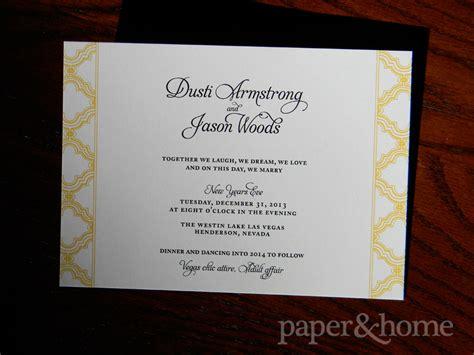 years eve wedding invitations dusti jason paper