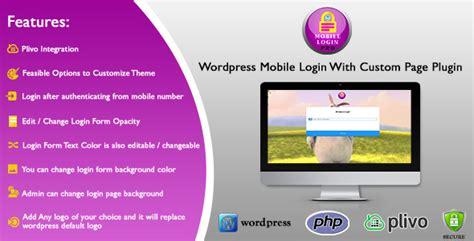 Wordpress Mobile Login With Custom Page Plugin By