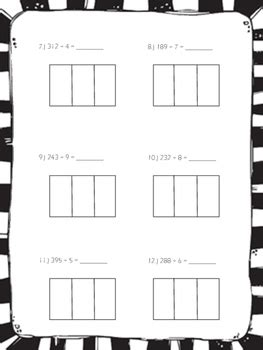 area model division practice worksheets  jumpingbeans tpt