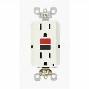 Leviton 15 Amp 125-volt Duplex Self-test Slim Gfci Outlet  White-r72-gfnt1-0rw