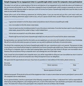 considerations for filing composite tax returns With tax engagement letter template