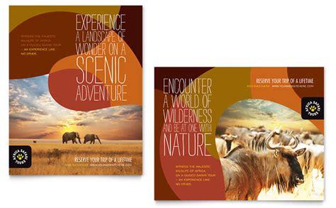 african safari poster template design