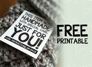 Best of free printable tags labels for handmade gifts for Handmade for you labels