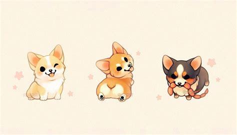 kawaii dog drawings digital art art drawings cute
