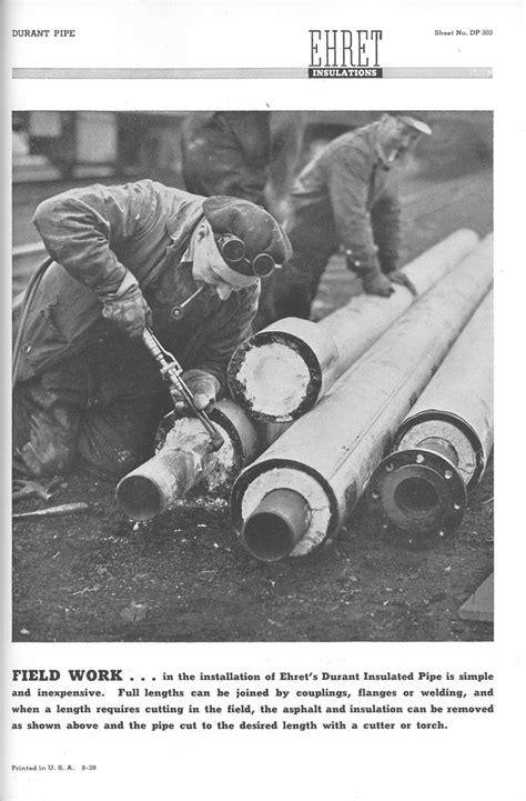 pipe worker ehret asbestos insulation  image