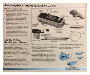 Le Electrolux Limited Edition Vacuum Cleaner Manual Pg 5