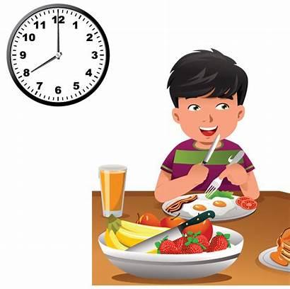 Clipart Eating Breakfast Clock Transparent Cartoon Healthy
