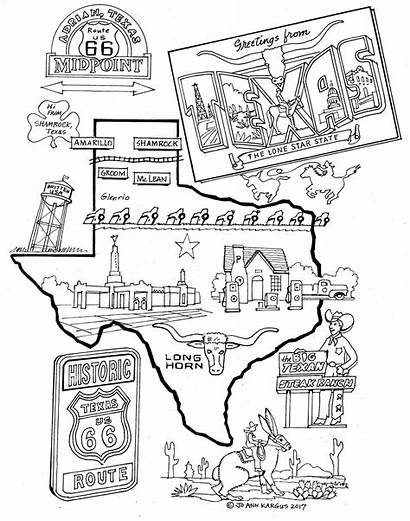 Coloring 66 Route Amarillo Adult Attractions Area