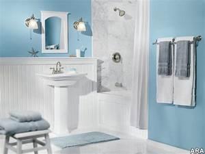gris et bleu deux couleurs en osmose dans la salle de With salle de bain gris bleu