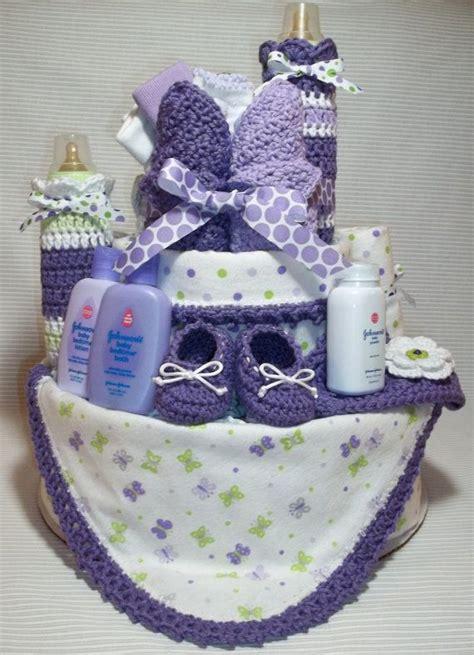 purple lavender lime green white diaper by