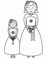 Coloring Pages Bridesmaid Printable Flower Cartoon Bride Drawing Printables Groom Dream Clipart Flowergirl Sheknows Activity Weddings Books Random Sheets Childrens sketch template
