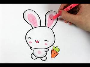 Drawn bunny cute - Pencil and in color drawn bunny cute