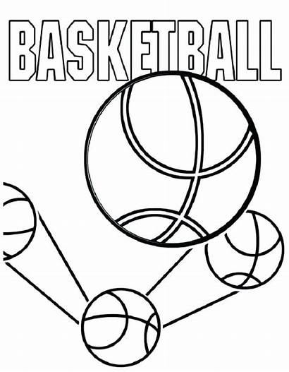 Coloring Pages Sports Basketball Teams Printable Court