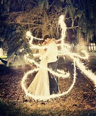 Long Exposure Sparklers Wedding