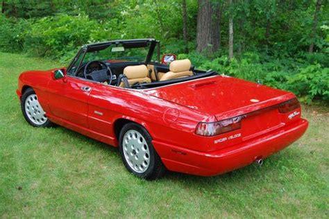 Find Used 1992 Alfa Romeo Spider Veloce  Classic Red