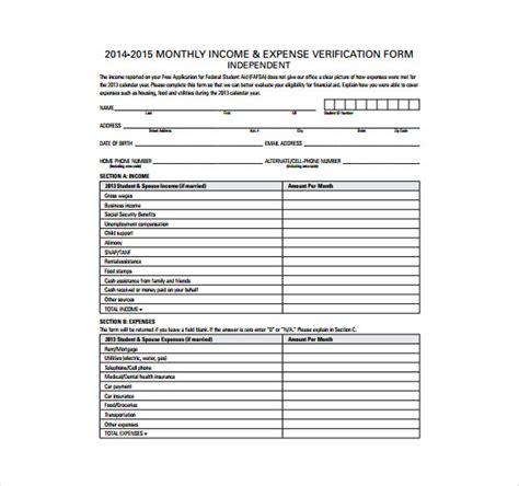 expense sheet templates  sample  format
