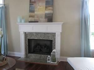 Granite fireplace mantels interior home design for Granite fireplace mantels
