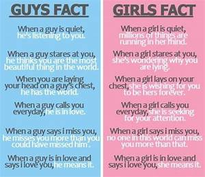 love+facts+about+guys | Guys Facts VS Girls Facts | Facts ...