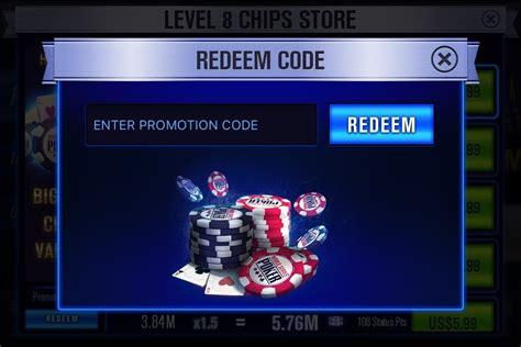 wsop poker codes redeem promo bonus texas mega holdem chips code mobile series club gamehunters ui spin collect app using